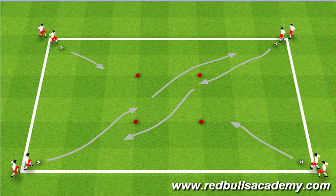 Football/Soccer Session Plan Drill (Colour): Increase Dribbling Speed