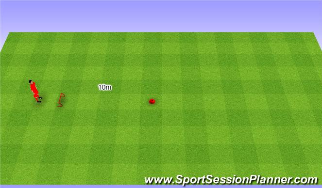 Football/Soccer Session Plan Drill (Colour): Speed and jumping. Szybkość i skoczność.