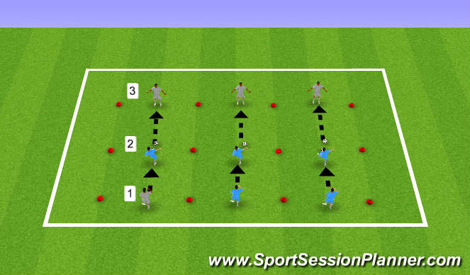 Football/Soccer Session Plan Drill (Colour): Warm Up & Hip Mobility