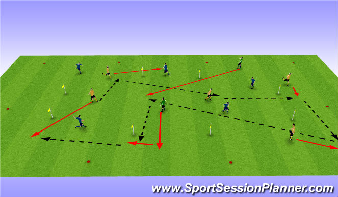 Football/Soccer Session Plan Drill (Colour): speed of play