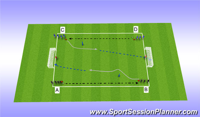 Football/Soccer Session Plan Drill (Colour): Developing Technique