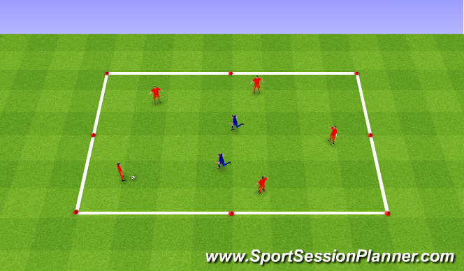 Football/Soccer Session Plan Drill (Colour): 2 - Possession In