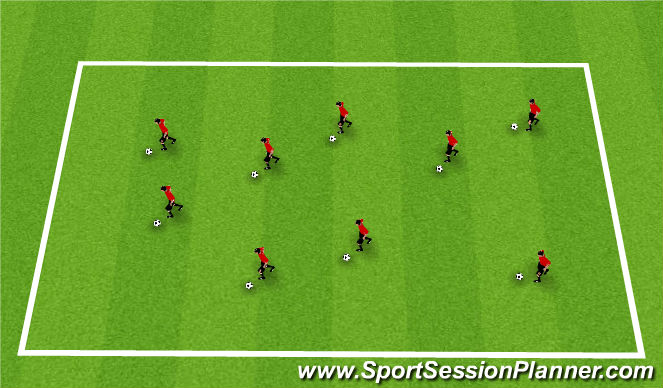 Football/Soccer Session Plan Drill (Colour): Animal Dribble