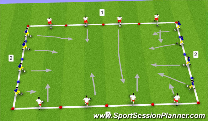 Football/Soccer Session Plan Drill (Colour): Messi vs Ronaldo