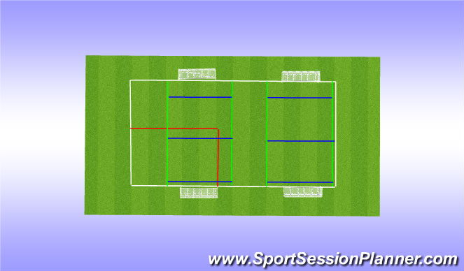 Football/Soccer Session Plan Drill (Colour): Session set up overview
