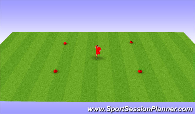 Football/Soccer Session Plan Drill (Colour): Dynamic warm up