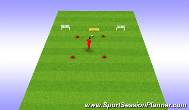 Football/Soccer Session Plan Drill (Colour): Passing to finishing