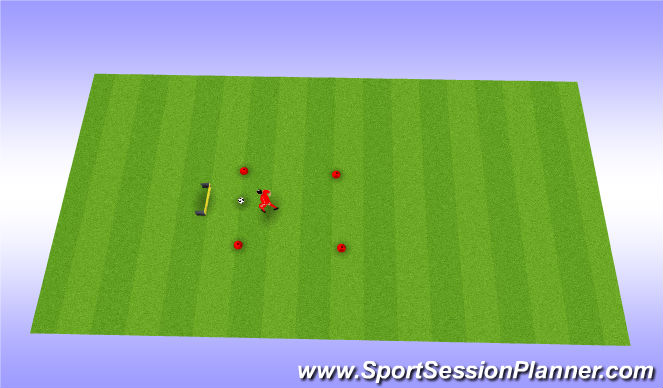 Football/Soccer Session Plan Drill (Colour): speed without ball
