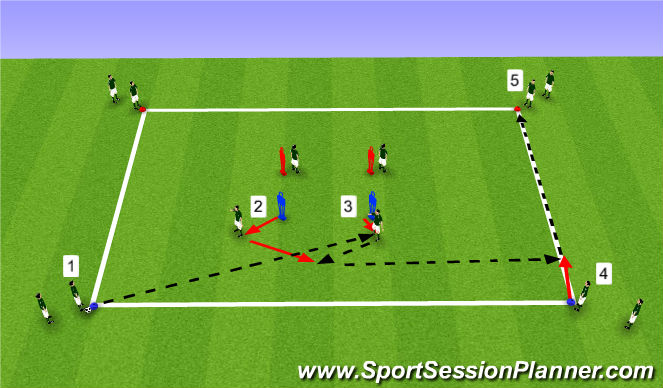 Football/Soccer Session Plan Drill (Colour): Option 1