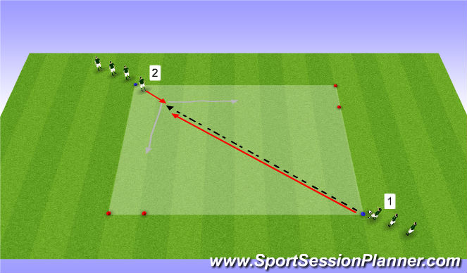 Football/Soccer Session Plan Drill (Colour): 1v1 attack