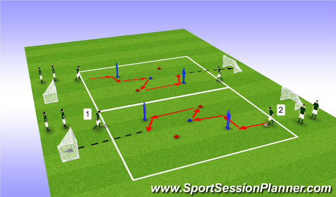 Football/Soccer Session Plan Drill (Colour): Creative Player