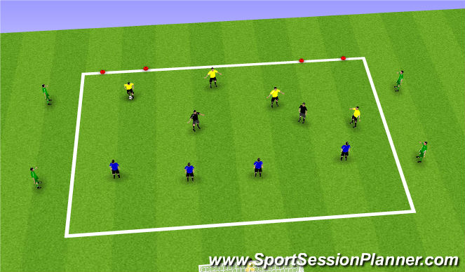 Football/Soccer Session Plan Drill (Colour): 6v4 + 4
