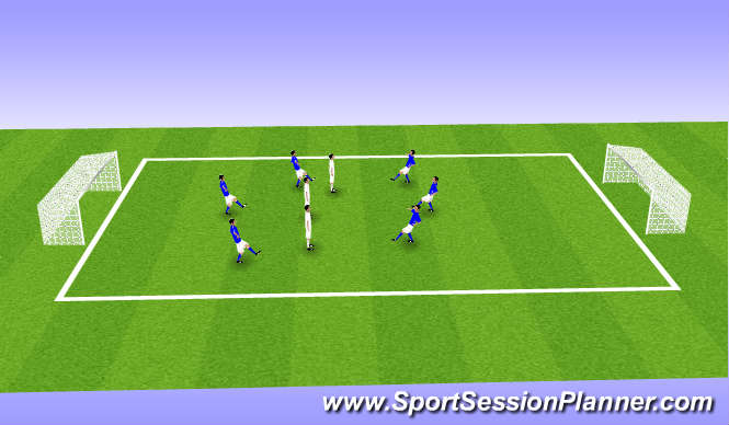 Football/Soccer Session Plan Drill (Colour): TRFC IMPROVE OFFENNSIVE AND DEFENSIVE