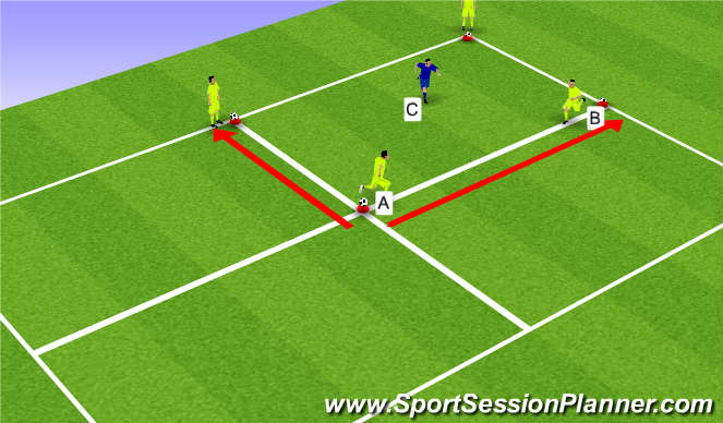 Football/Soccer Session Plan Drill (Colour): Switch, Dynamic Warm-Up