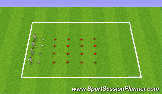 Football/Soccer Session Plan Drill (Colour): Speed warm up