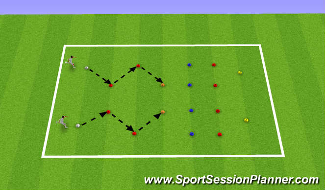 Football/Soccer Session Plan Drill (Colour): Multi Direction Speed