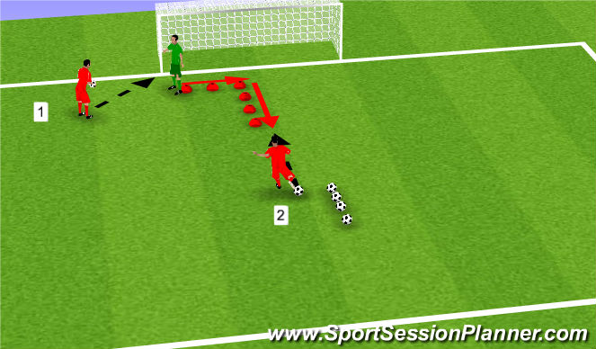 Football/Soccer Session Plan Drill (Colour): I