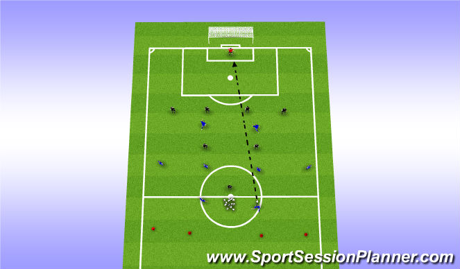 Football/Soccer Session Plan Drill (Colour): Set-Up & Free Play (2mins)