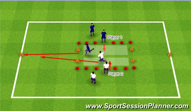 Football/Soccer Session Plan Drill (Colour): SAQ 7