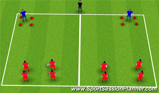 Football/Soccer Session Plan Drill (Colour): Passing and Moving Unopposed