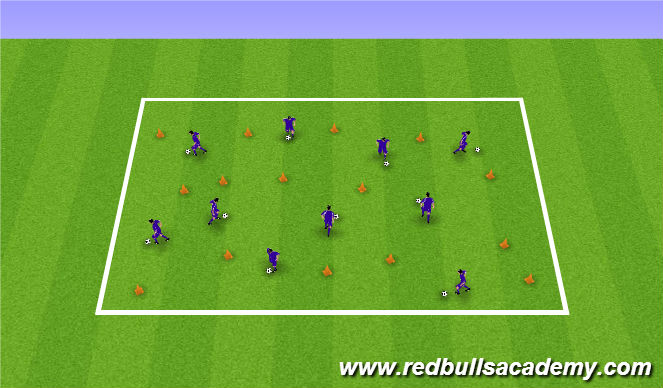 Football/Soccer Session Plan Drill (Colour): Memory Game