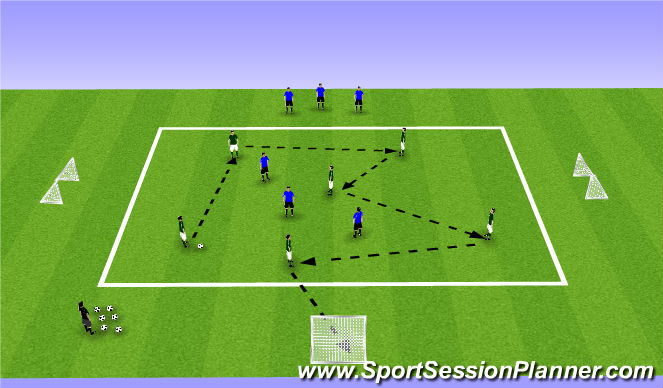 Football/Soccer Session Plan Drill (Colour): Possession and Pressing