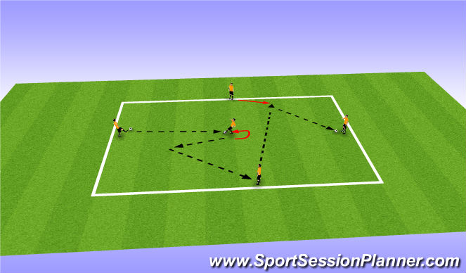 Football/Soccer Session Plan Drill (Colour): Diamond Pattern