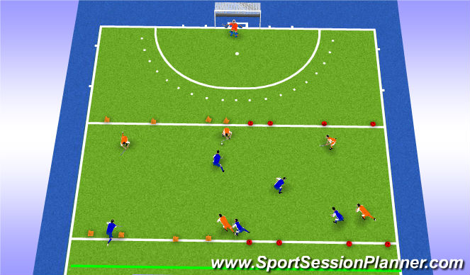 Hockey Session Plan Drill (Colour): Trainingsdeel 2