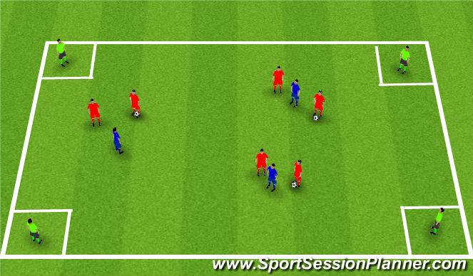 Football/Soccer Session Plan Drill (Colour): Pass and move Practical game