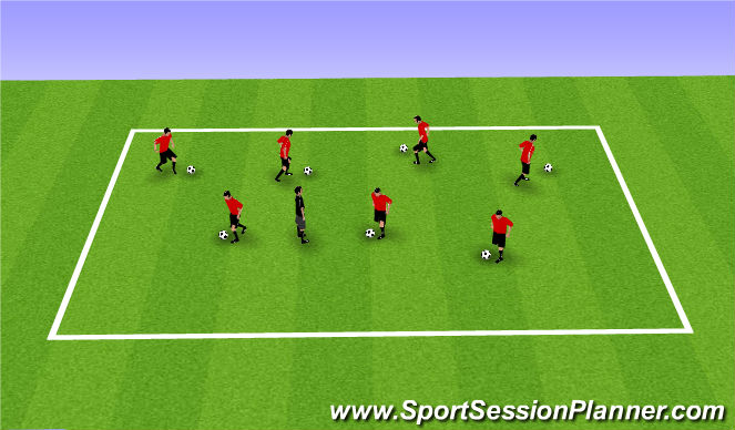 Football/Soccer Session Plan Drill (Colour): Cookie Monster