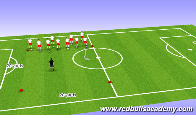 Football/Soccer Session Plan Drill (Colour): Main Theme/Dog Catcher
