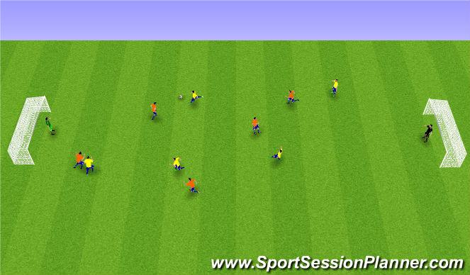 Football/Soccer Session Plan Drill (Colour): Spila: