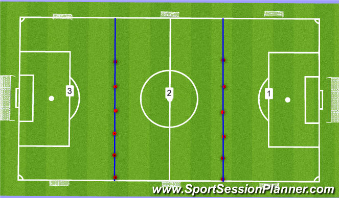 Football/Soccer Session Plan Drill (Colour): Dome 1 Set Up/Fifa 11+