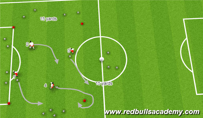 Football/Soccer Session Plan Drill (Colour): Main Theme 3/U10-U12