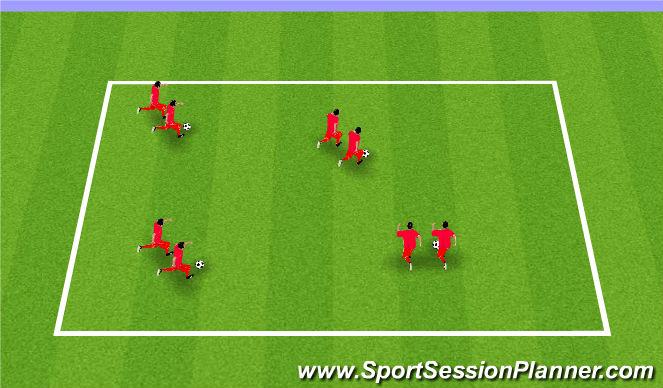 Football/Soccer Session Plan Drill (Colour): Snake Dribble