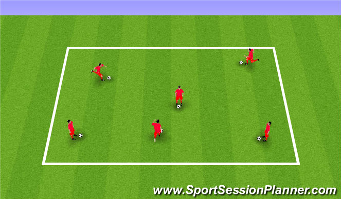 Football/Soccer Session Plan Drill (Colour): Numbers Warm Up