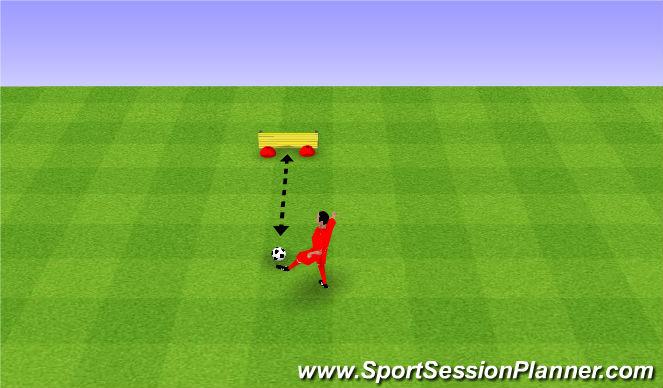 Football/Soccer Session Plan Drill (Colour): Passing against a wall. Podania przy ścianie.