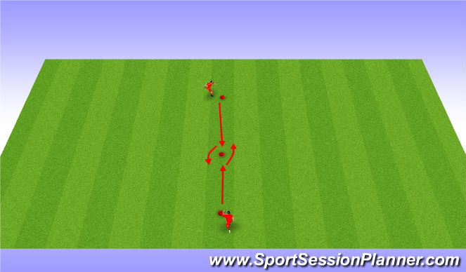 Football/Soccer Session Plan Drill (Colour): Step over & Cristiano