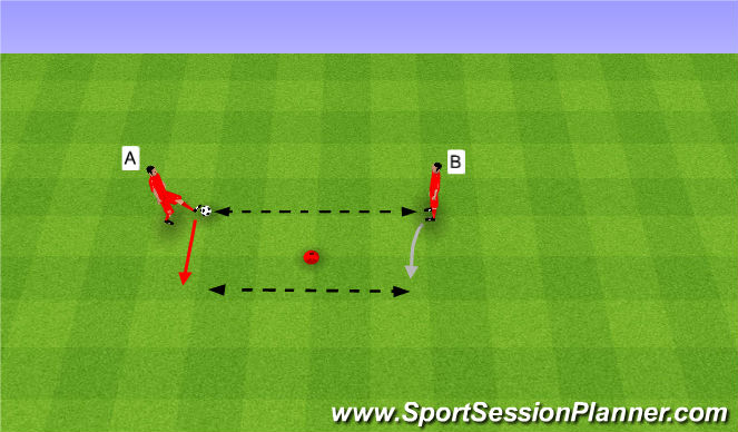 Football/Soccer Session Plan Drill (Colour): Passing 2 touch. Podania na 2 kontakty.
