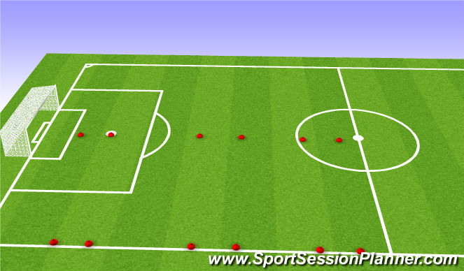 Football/Soccer Session Plan Drill (Colour): Game to three goals