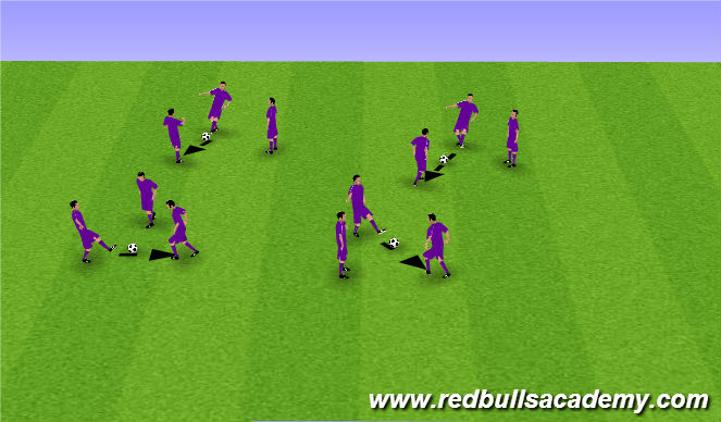 Football/Soccer Session Plan Drill (Colour): Speed of Play - Champion warm up
