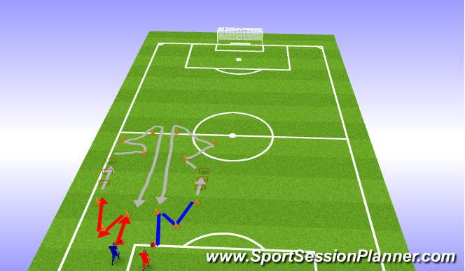 Football/Soccer Session Plan Drill (Colour): exercise for warm up