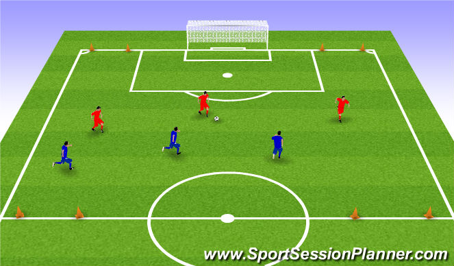 Football/Soccer Session Plan Drill (Colour): Switching Play - Large