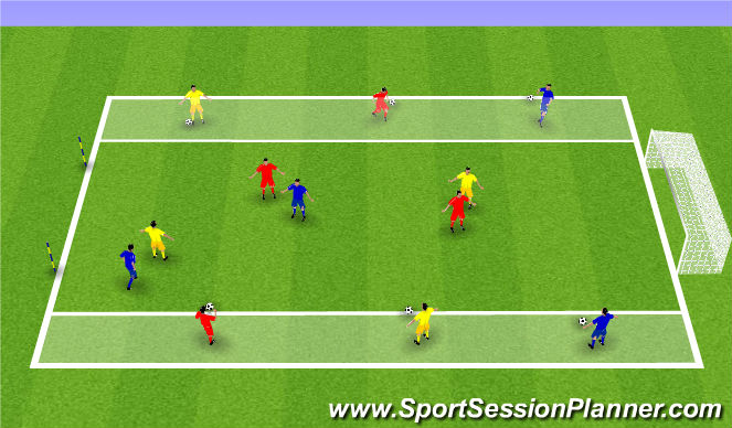 Football/Soccer Session Plan Drill (Colour): Technique Game