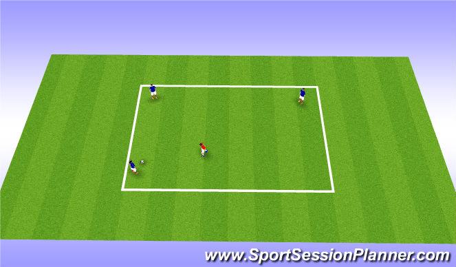 Football/Soccer Session Plan Drill (Colour): 3v1