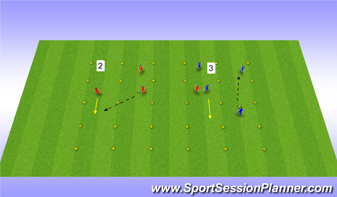 Football/Soccer Session Plan Drill (Colour): Passing & Receiving Progression Variable