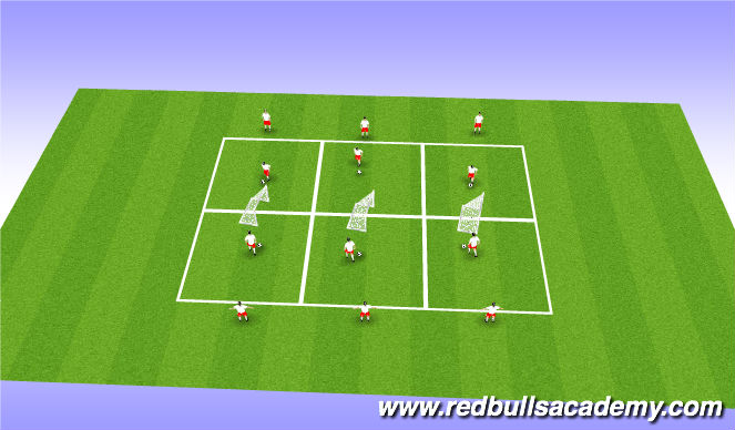 Football/Soccer Session Plan Drill (Colour): Semi oposed
