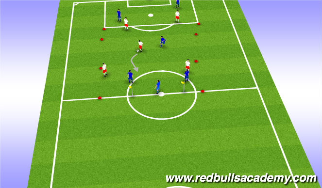 Football/Soccer Session Plan Drill (Colour): Condtionned game