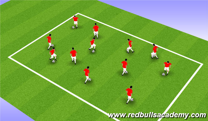 Football/Soccer Session Plan Drill (Colour): Warm  Up (1)