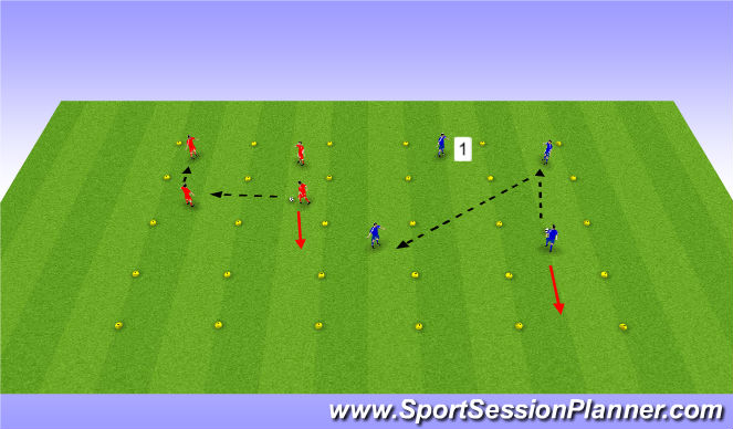 Football/Soccer Session Plan Drill (Colour): Passing & Receiving Variable
